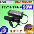 原廠【90W  Acer 變壓器】Acer 19V* 4.74A , 5.5/1.7mm 變壓器【ADP-90SB BB 】