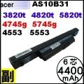 【 Aspire 4820t = 4400 mAh】Acer Aspire 4820T 5820T  4745g 5745g 電池【6芯】