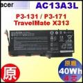 原廠 AC13A3L【 P3-171 = 40Wh】AcerAspire  P3-131 P3-171 / TravelMate X313 電池【4芯】