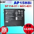 原廠 AP15H8i【 SF114-31= 54.8Wh】Acer AspireOne AO1-431 / Swift SF114-31 電池【3芯】