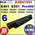 原廠 A32N1331【 PU451= 56Wh】 Asus E451 E551 PU450 PU550 Pro450  電池【6芯】