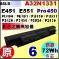 原廠 A32N1331【 PU451= 72Wh】 Asus P2420 P2430 P2520 P2530  電池【6芯】