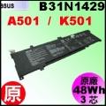 原廠 B31N1429【 K501 = 48Wh】 Asus A501  K501  電池【3芯】