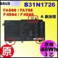 原廠 B31N1726【 FX504 = 48Wh】 Asus TUF FX504 FX505 FX80 電池【3芯】