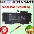 原廠 C31N1411【 UX305CA = 45Wh】 Asus UX305CA / UX305FA  電池【3芯】
