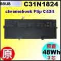 原廠 C31N1824【C434 = 48Wh】 Asus Chromebook Flip C434 電池【3芯】