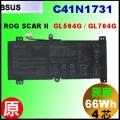 原廠 C41N1731【 GL504= 66Wh】 AsusROG SCAR GL504 / GL704 電池【4芯】