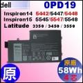 原廠【0PD19= 58Wh】Dell Inspiron 5442/5447/5448, 5545/5547/5548 E3350 E3450 E3550 電池
