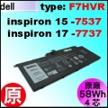 原廠 F7HVR【Inspiron 7537 = 458Wh】Dell Inspiron15-7537  17-7737 電池