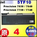 原廠 5TF10【Precision 7530 = 64Wh】Dell Precision 7530 7540 7730 7740 4芯小電池