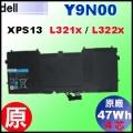 原廠 Y9N00【 XPS13-L321x = 47Wh】Dell XPS13-L321x 13-L322X  電池【4芯】