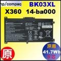 原廠 BK03XL【X360 14-ba = 41.7Wh】HP Pavilion X360 14-BAxxx 電池【3芯】