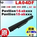原廠 LA04DF【 LA04DF= 41Wh】HP Pavilion14-n  Pavilion15-n  248g1 340g1 345g1 350g1 355g1  G2 電池【4芯】