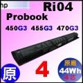 原廠 Ri04【Probook 450G3 = 2850mAh 】HP Probook 450G3, 455G3, 470G3 電池