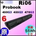 原廠 Ri06【Probook 450G3 = 4965mAh 】HP Probook 450G3, 455G3, 470G3 電池【6芯】