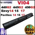 Vi04【VI04 = 41Wh】HP Envy14,15,17, Pavilion 14-v 15-p 17-f 電池【4芯】