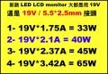 LED 銀幕 變壓器 原廠【 5.5*2.5mm 接頭】 原廠 19V 1.75A 2.37A 3.42A 4.74A