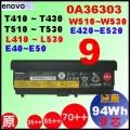 長效原廠 【T430 = 94Wh】Lenovo L430 L530 T430i T530i W530電池【9芯】