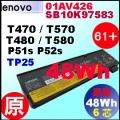 原廠 01AV426【 T470 = 48Wh】Lenovo T470 T570 T480 T580 P51s TP25 電池【6芯 】