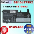 原廠 01AV435【ThinkPad13 = 24Wh】Lenovo ThinkPad13 Gen2 內建式電池【3芯 】