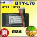 直排 線原廠 BTY-L78【BTY-L78 = 75.24Wh】MSI GT73 GT75 電池