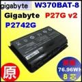 原廠【W370BAT-8 = 76.96Wh】gigabyte P27G v2 / P2742G 電池