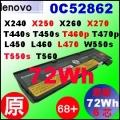 【原廠 X240 = 72Wh】Lenovo ThinkPad X240 X250 X260 T440s T450s T550 電池【6芯】