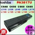 原廠【 PA3817U= 48Wh】 Toshiba Satellite C640 C650 C660 L510 L640 L740 L750 電池